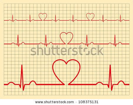 Heart Ecg Pattern   heart beat stock images royalty free images vectors