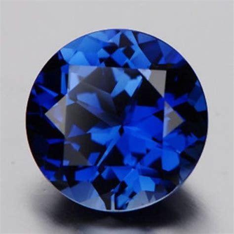 sapphire blue 10mm blue sapphire gem round unheated gemstone diy loose
