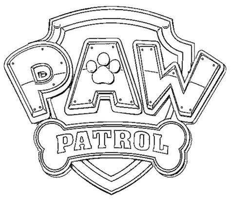 Coloriage Pat Patrouille 19 Gratuit 224 Imprimer En Ligne Paw Patrol Logo Template