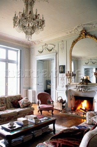 gilt framed mirror  fireplace  french apartment