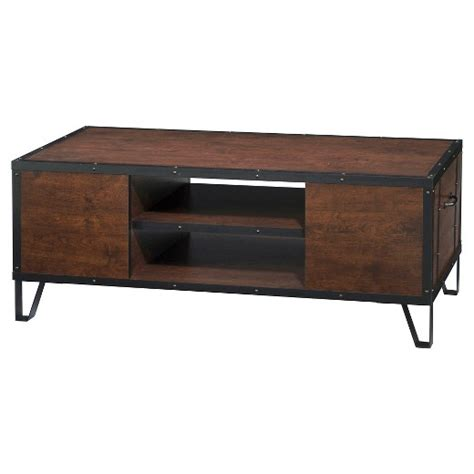 rosemary industrial metal accent coffee table vintage