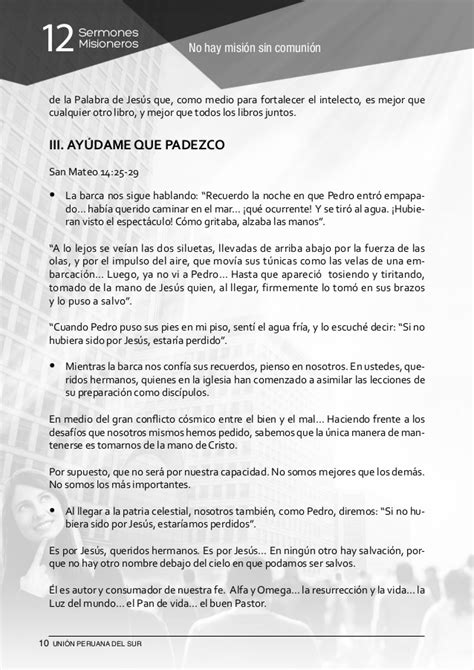 12 Sermones Misioneros Unin Peruana Del Sur | 12 sermones misioneros uni 243 n peruana del sur