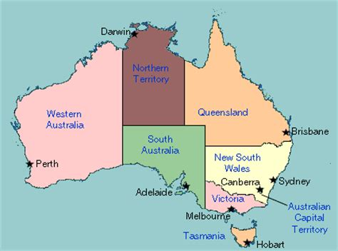 map of australia with capital cities australia map capital cities