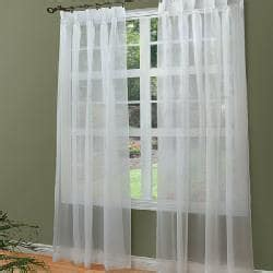 pleated voile curtains voile pinch pleated curtain panels 96 in x 84 in