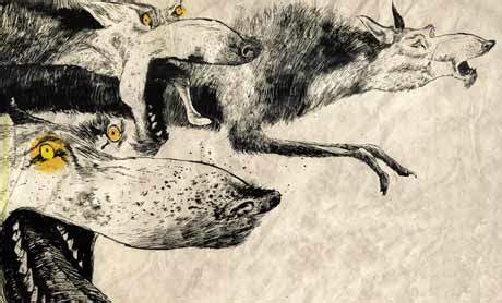 The Wolves In The Walls illustration by dave mckean from book the wolves in the
