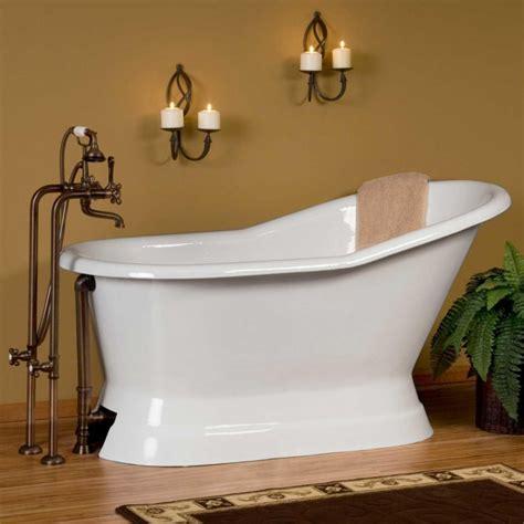 60quot socorro cast iron slipper pedestal tub bathroom