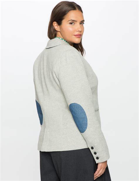 Edge Elbo Jaket patch blazer s plus size coats jackets eloquii