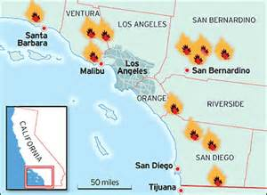 map of of california cuses worldlywise wiki the causes and effects of wildfires and