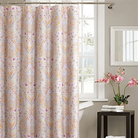 echo curtains echo design laila 72 inch x 72 inch shower curtain bed