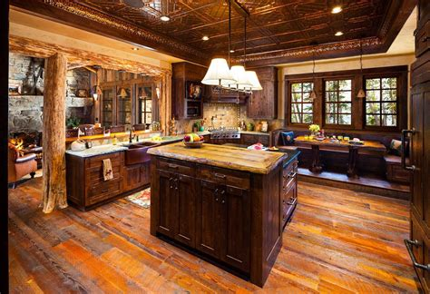 log home kitchen designs old west inspired luxury rustic log cabin in big sky