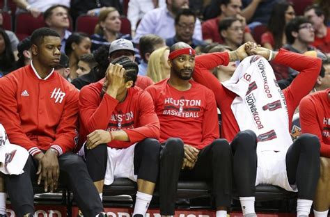 rockets bench houston rockets this team doesn t deserve playoffs
