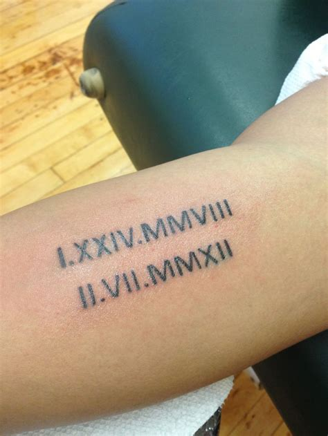 roman numeral birthday tattoo 131 awesome numeral tattoos which rock