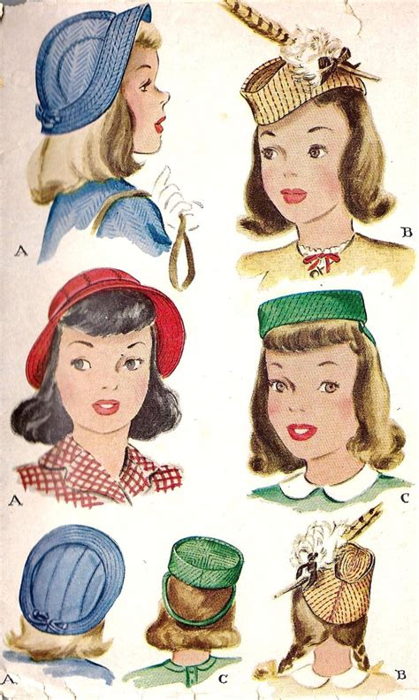 how to make a 1940 style hat 1940s girls hat pattern vintage sewing pattern mccall