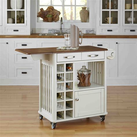 Kitchen Cart Reddit Home Styles Danville Kitchen Cart White Finish The Home