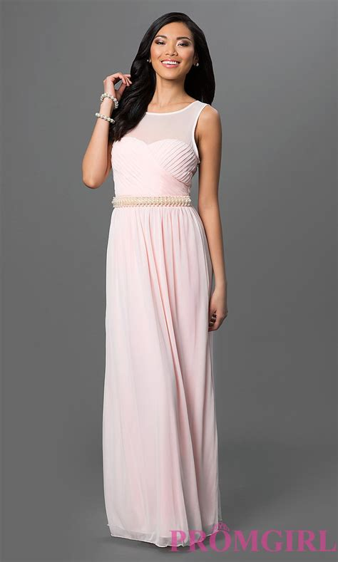 Light Pink Dresses by Illusion Sweetheart Prom Dress Promgirl