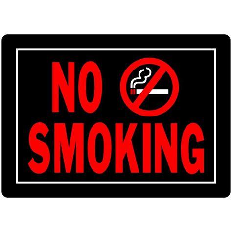 no smoking sign bunnings 10 in x 14 thread aluminum no smoking sign 840149 the