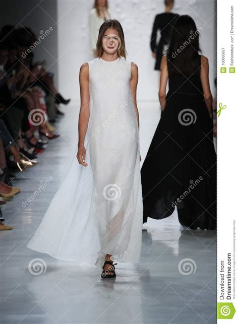 New York Fashion Week Alexandre Herchcovitch by A Model Walks The Runway For Noon By Noor Fashion Show