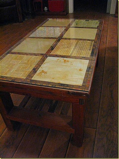 Decoupage Coffee Table - decoupage a table diy crafts