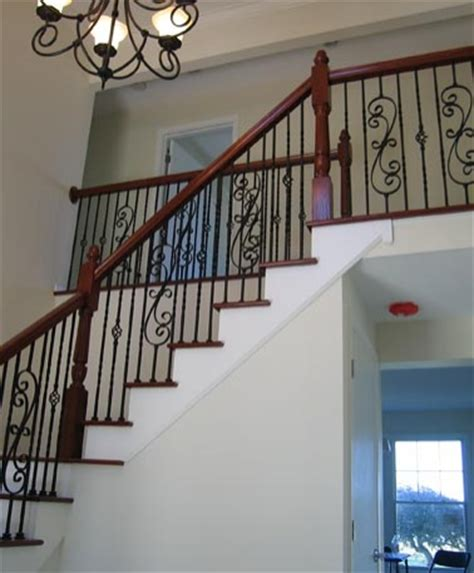 Return Stairs Design Stairway Residential Staircase Design Wood Wrought Iron
