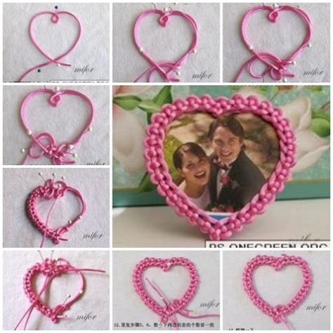 do it yourself crafts step by step find craft ideas how to make lovely heart photo frame step image 960081