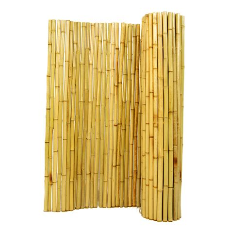bamboo backyard privacy shop backyard x scapes 96 in w x 72 in h natural bamboo