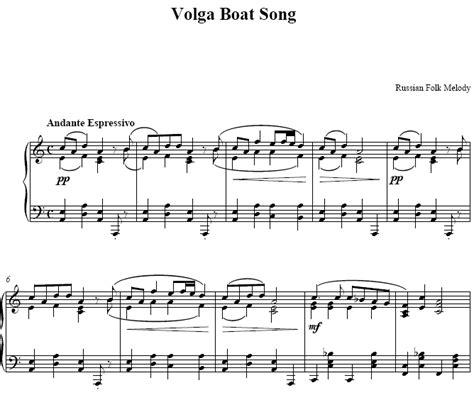 volga boat song piano sheet music volga boat song music score - The Volga Boat Song