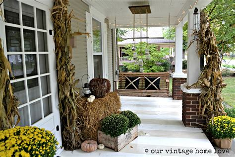 porch decoration our vintage home love autumn porch ideas