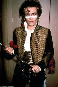 adam ant sports trademark prince charming look on this