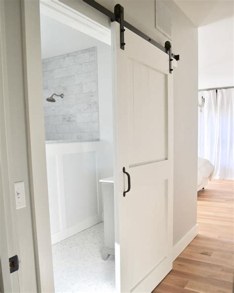 Bathroom Sliding Doors Interior Best 25 Barn Door In House Ideas On Barn Door To Bathroom Room Door Design And Diy