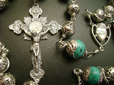 Handmade Rosary - sterling silver cross handmade rosary box stations