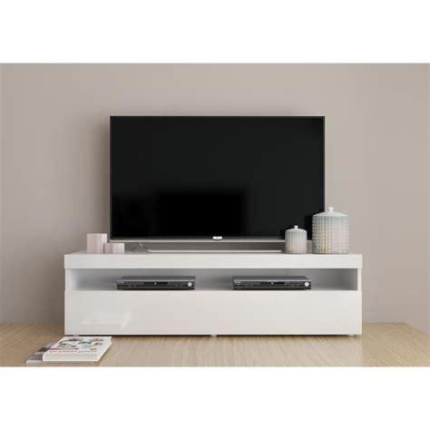Meuble Tv D Angle Contemporain by Finlandek Meuble Tv Contemporain Laqu 233 Blanc L 130 Cm