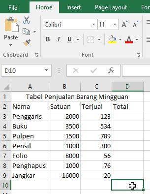 cara membuat tabel di dalam microsoft excel get my archives cara membuat tabel di excel dengan table tools dan contohnya