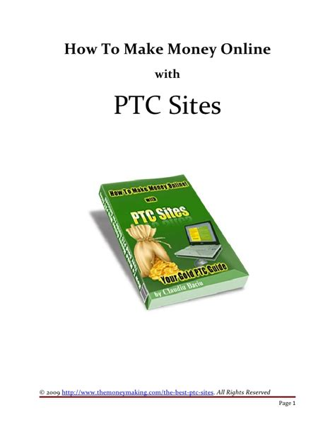 Sites To Make Money Online - how to make money online with ptc sites