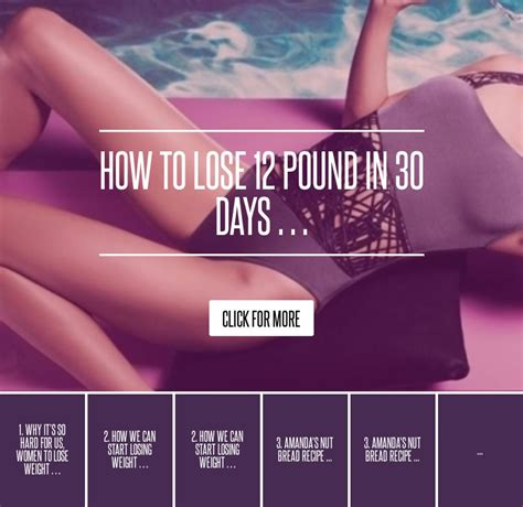 Shed 30 In 30 Days Diet by How To Lose 12 Pound In 30 Days Diet