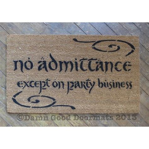 Lotr Doormat by 1000 Ideas About Welcome Back Gifts On