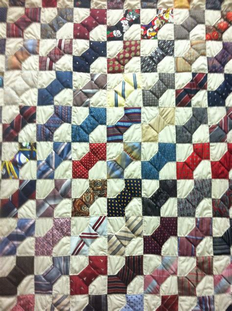 Necktie Quilt Pattern bow tie quilt made from neckties quilts