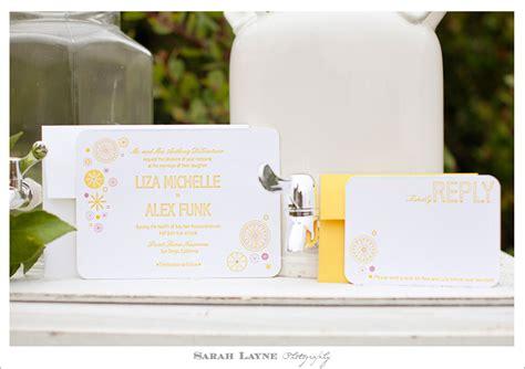 lemon themed wedding invitations wedding insipration strawberry lemonade layne