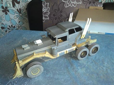 war rig mad max fury road paper model by bhaad on