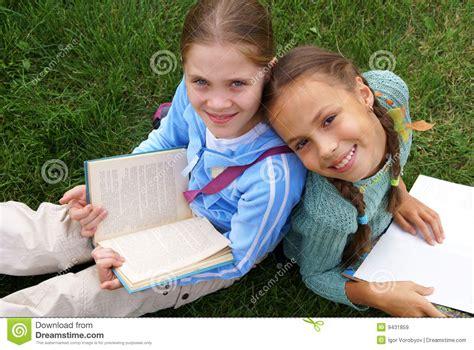 preteen school girl photos preteen school girls reading books stock image image