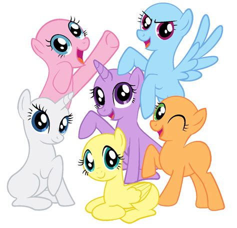 my little pony mane 6 base mlp fim base 13 by magicdarkart on deviantart