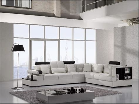 modern white leather sectional sofa with storage modern