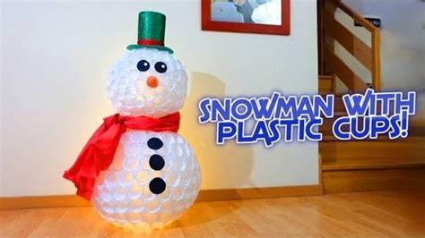 pupazzo di neve con bicchieri di carta pupazzo di neve con bicchieri di carta tutorial