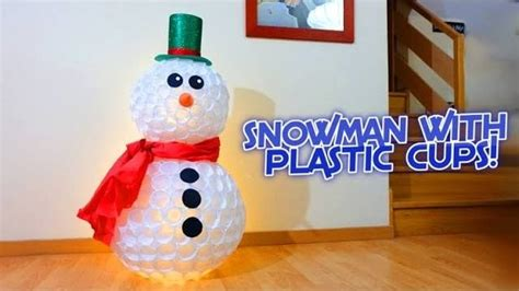pupazzi di neve con bicchieri pupazzo di neve con bicchieri di carta tutorial