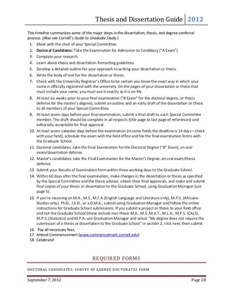 dissertation timeline template