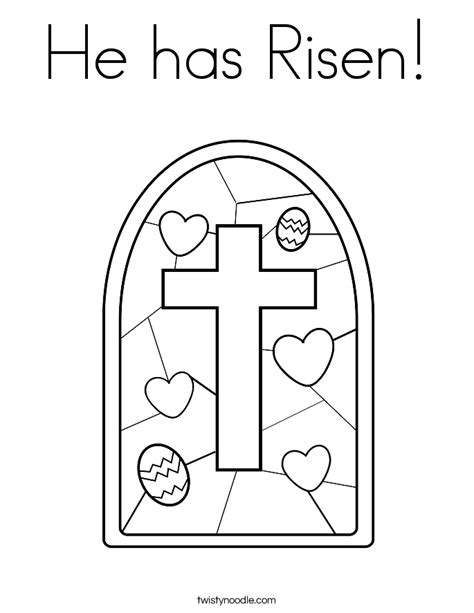 preschool coloring pages about jesus has risen he has risen coloring page twisty noodle