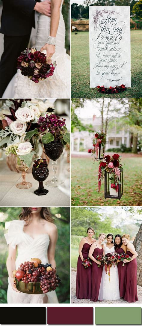 wedding colors for fall five awesome fall wedding colors in shades of black