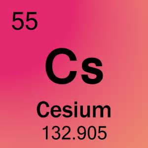 Cs Periodic Table Element 55 Cesium Images Frompo