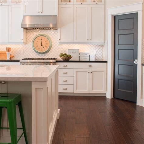 showing  kathleen painted pantry doors kitchen