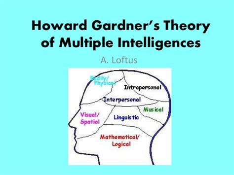 Howard Gardners Theory Of Intelligences Essay by Howard Gardner S Theory Of Intelligences