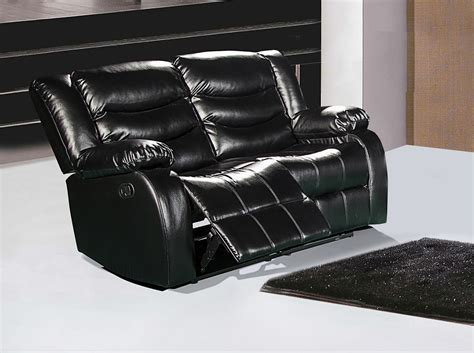 black leather reclining loveseat 644bl black leather reclining loveseat with pillow arms